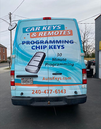 Van Of The Fast And Reliable Vehicle Key Services In Germantown, MD